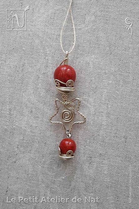 Objets décoratifs - Collection « Étoile de Noël » - Pendentif décoratif #2 (Vue de dessus)