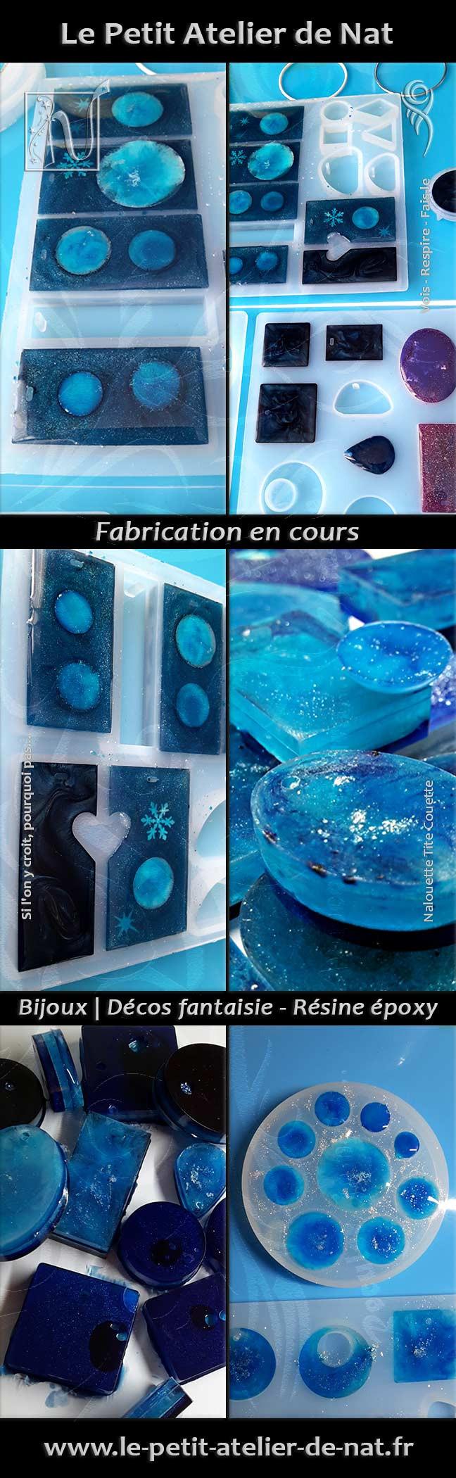 Fabrication d'éléments de bijoux et de décorations en résine époxy