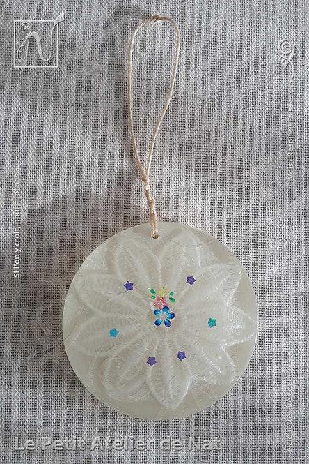 Collection « Fleur festive » - « Lueur de fleur» #2 - Décoration luminescente (Vue de dessus, devant)