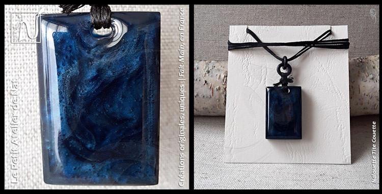 Pendentif / Collier n°2 - Collection « Doux songe » - Le Petit Atelier de Nat