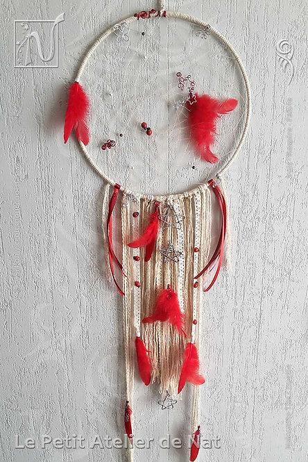 Attrape-rêves « Rouge plume »