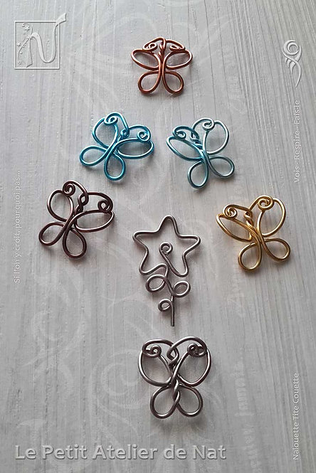 Éléments décoratifs - Papillons et fleur