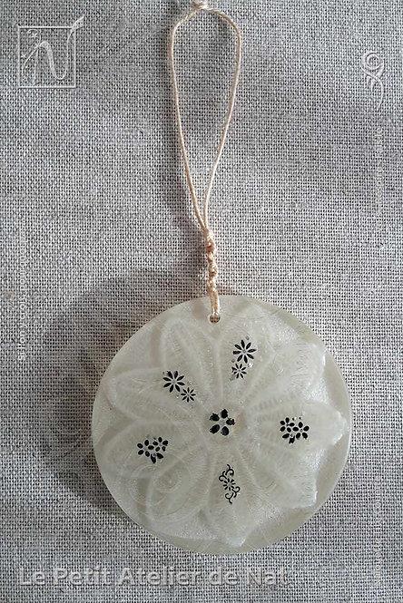 Collection « Fleur festive » - « Lueur de fleur» #1 - Décoration luminescente (Vue de dessus, devant)