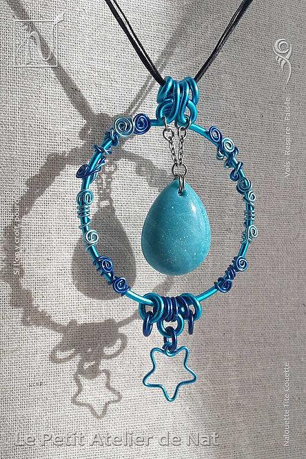 Collier « La Belle Bleue » - Collection  « Pour chaque jour » (Vue de face - Zoom 2)