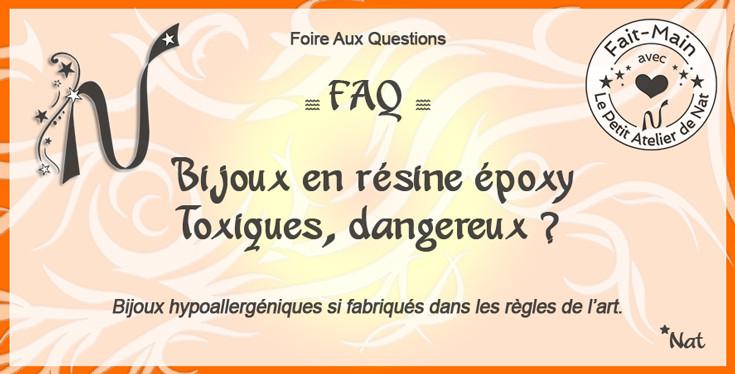 Titre : Bijoux en résine époxy : toxiques, dangereux ? Questions/Réponses