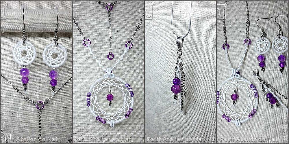 Parure de bijoux Attrape-Rêves - Anniversaire, mariage, événement festif, sortie spéciale...
