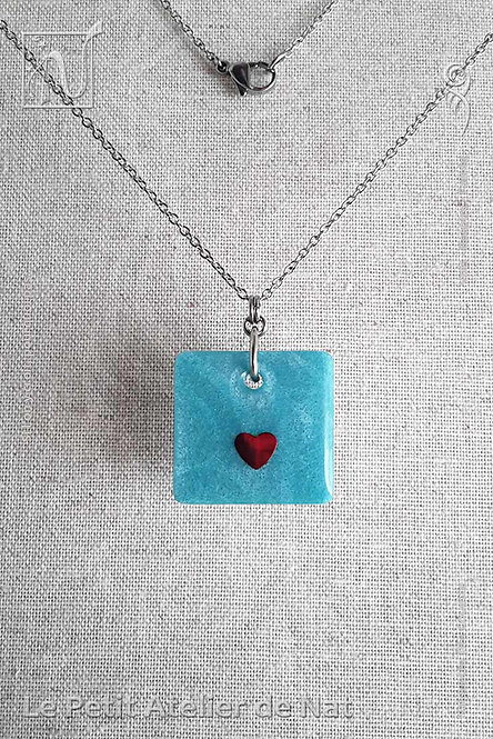 Collection « Petit Coeur » Collier #3 (Vue de face)