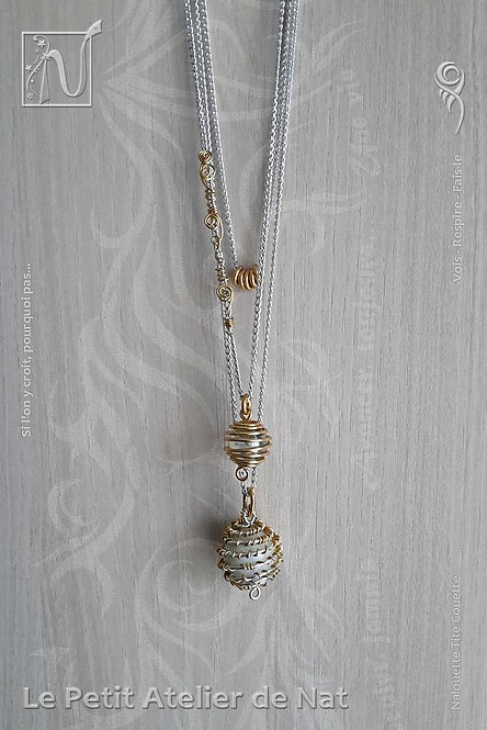 Collier « Billes or clair »