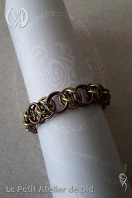 Bracelet-Chaine-Anneaux-Pistache-Chocola