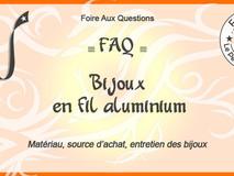 Bijoux en fils aluminium : nettoyage, entretien, conservation