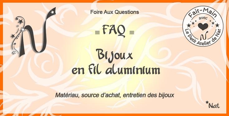 Composition graphique : Bijoux en fil aluminium - Matériau et source d'achat, entretien des bijoux