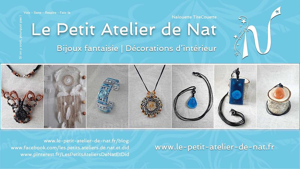 Le Petit Atelier de Nat - Créations artisanales, le Fait-Main, en France, avec coeur et passion