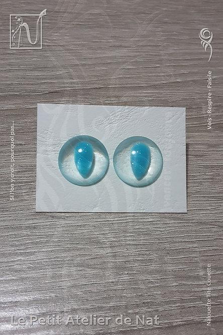 Boucles d'oreilles « Luminescence » Goutte #2 - Bleu Ciel