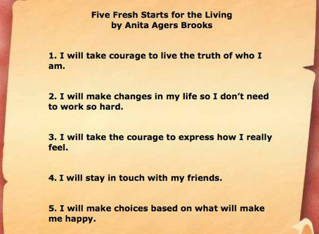 Five Fresh Starts for Living