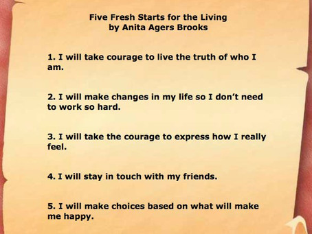 Five Fresh Starts for Living
