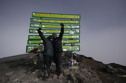 Kili with my wife Tracey