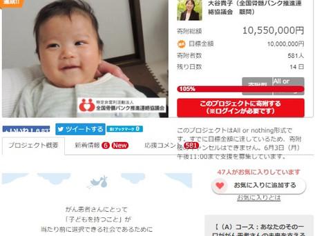 白血病患者も子を持てる治療を ネット募金成立!
