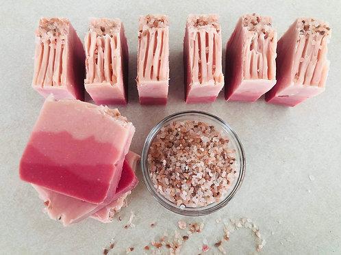 Layered Rose Quartz Soap