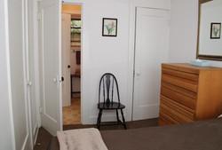 A bedroom towards bathroom