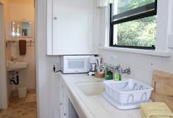 C kitchen to bathroom