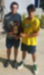 tom jaworski, santiago uribe, district tennis champions, fhsaa state semi-finalist, tennis, district champions