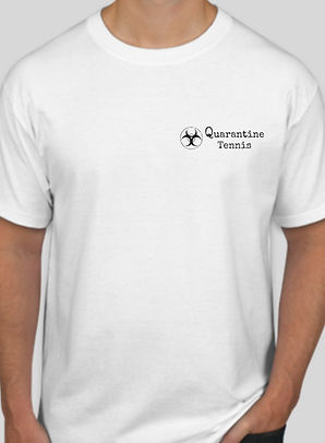 Quarantine Tennis T-Shirt, todd rubinstein, apparel, t-shirts, tennis apparel, tennis clothing, tennis shirts, quarantine, quarantine tennis, shirts
