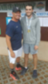 Tom Jaworski of Mourning High with Coach Todd Rubinstein Wins the 3A FHSAA Florida State High School Tennis Championships