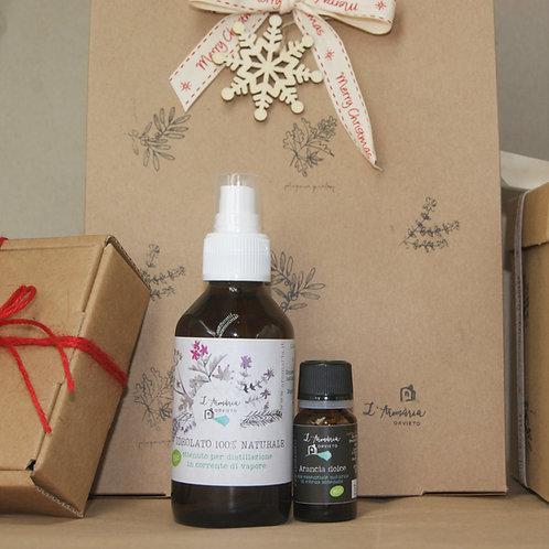 Confezione regalo idrolato e olio essenziale