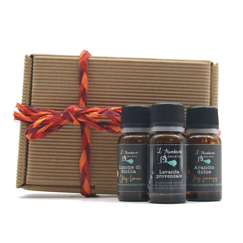 Confezione regalo con oli essenziali