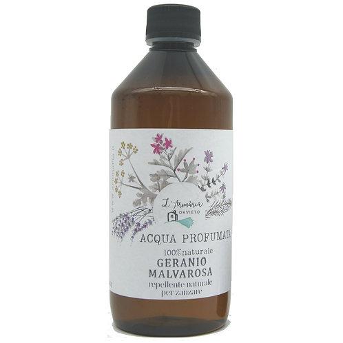 Acqua profumata per ambienti e tessuti 500 ml_Idrolato di Geranio