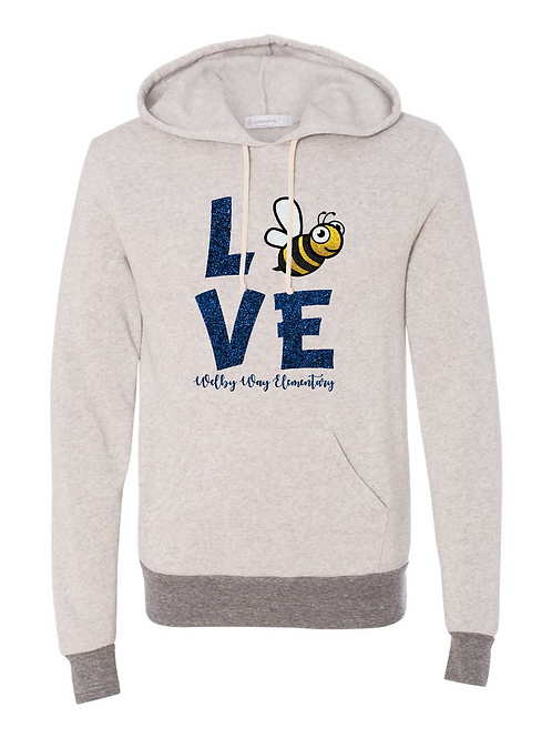 "Adult Premium Eco-Fleece ""LOVE"" Hoodie"