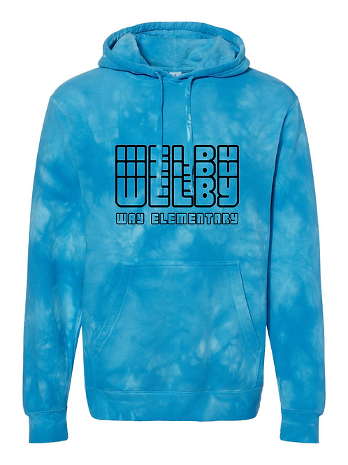 """Adult Tie-Dyed """"Welby"""" Hoodie"""