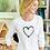 Thumbnail: Ladies Heart Long Sleeve Scoopneck