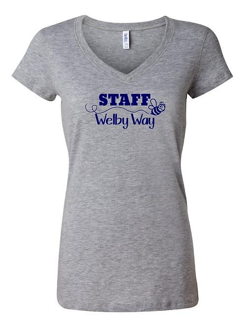 Ladies Staff Jersey V Neck Tee