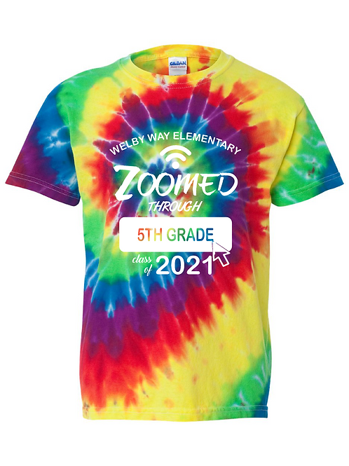 "Youth ""Zoomed through"" Tie-dye Tee"