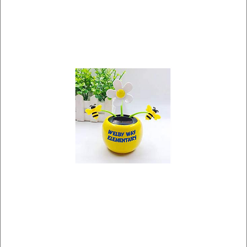 Solar Dancing Bee & Flowers