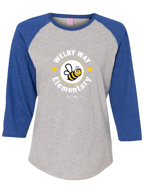 "Ladies Baseball Tee ""Welby"" 3/4 sleeve"