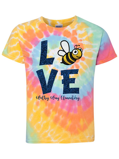 "Youth ""LOVE"" Tie-dye Tee"