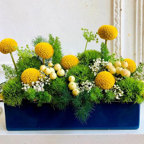 """Rectangle  """"Happy"""" Floral Arrangement"""