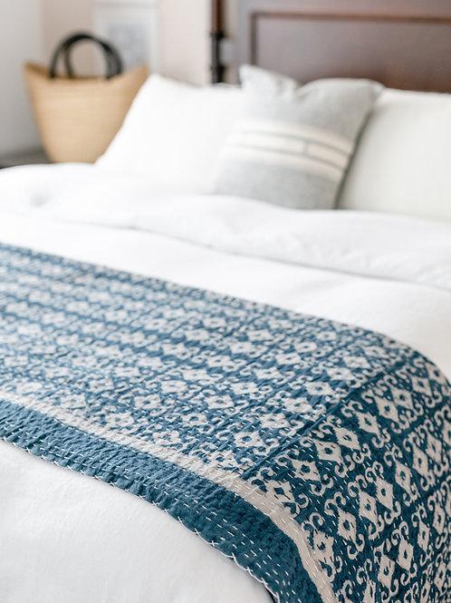 Indigo Kantha Bed spread