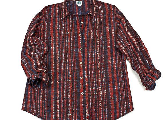 Wine Mood Batik Pyjama Set with Pockets