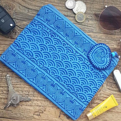 Travel Pouch-Dastkar Blue