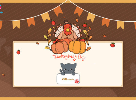 Thanksgiving Catch a Cat, win 10,000 satoshi