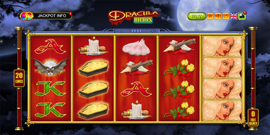 Free spins are playable on Dracula Riches and other slots
