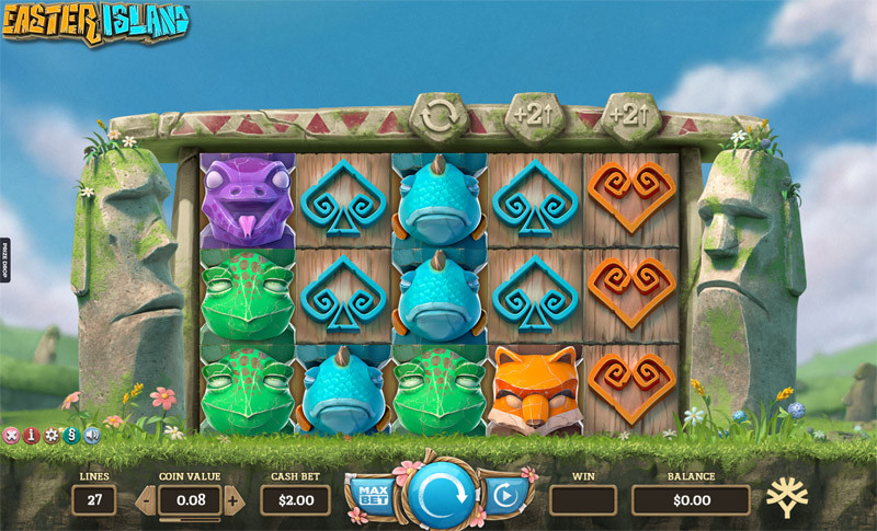 Easter Island - One of the five selected slots fortunejack ingame