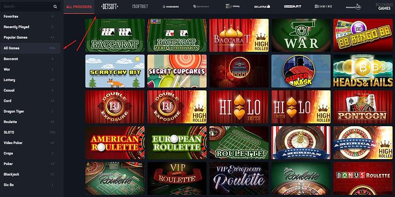 buffbet casino games