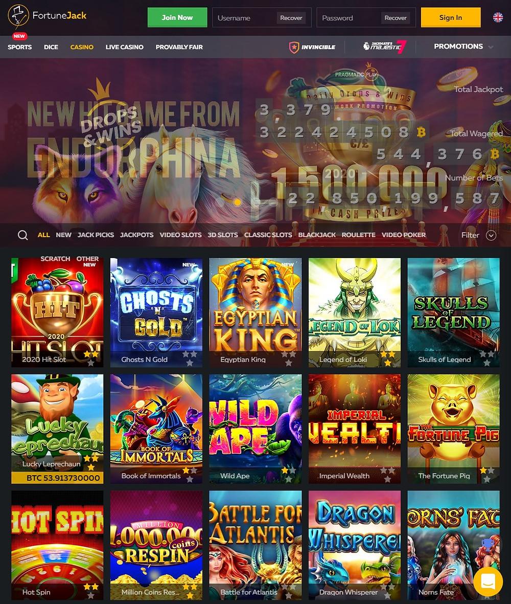fortunejack crypto casino games