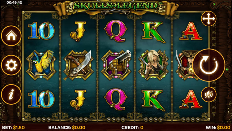 Skull of legend slots gameplay
