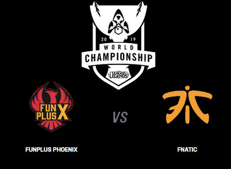 Worlds 2019 - Funplus Phoenix vs Fnatic Betting Odds Comparison