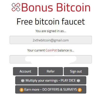 BonusBitcoin Dashboard